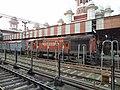 12436 Rajdhani behind TKD WDM3A ^16303 at LKO - Flickr - Dr. Santulan Mahanta.jpg