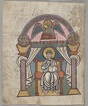 Stockholm Codex Aureus - Evangelist portrait of Saint John