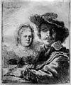 1636 Rembrandt Selbstbildnis zeichnend mit Saskia anagoria.JPG