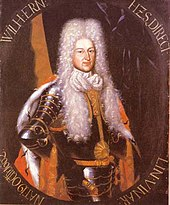 portrait of the duke Wilhelm Ernst, dressed in armour and with a long white wig