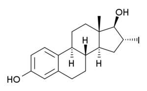 16α-Iodo-E2 - Image: 16iodoestradiol structure