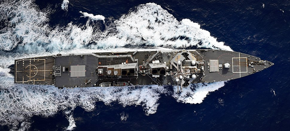 171107-N-UY653-164 USS Oscar Austin DDG-79 transiting Atlantic Ocean