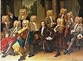 1731 Het groepsportret op het schilderij toont de regenten van het Utrechtse Stadsambachtskinderhuis in.jpg