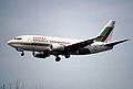 17bw - Balkan Bulgarian Airlines Boeing 737-53A; LZ-BOA@ZRH;30.03.1998 (5035682713).jpg