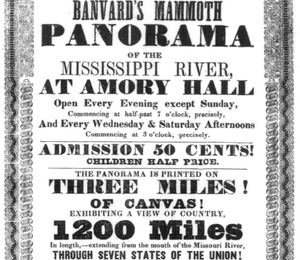 John Banvard - Advertisement for Banvard's Mississippi panorama at Amory Hall, Boston, 1847