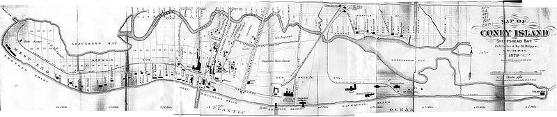 map of coney island in 1879