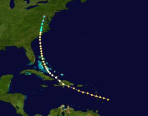 1883 Atlantic hurricane season - Image: 1883 Atlantic hurricane 3 track