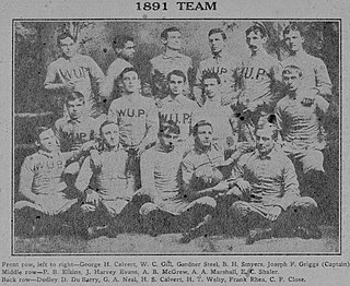 1891 Western University of Pennsylvania football team American college football season