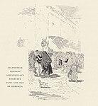 1901, Au pays de Don Quichotte, Colporteur vendant son stock aux enchères dans une rue de Herencia, Vierge.jpg