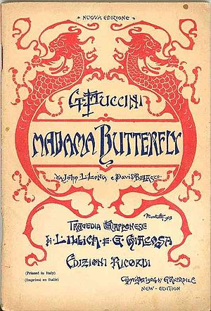 """Italiano: Copertina del libretto d'opera """"..."""