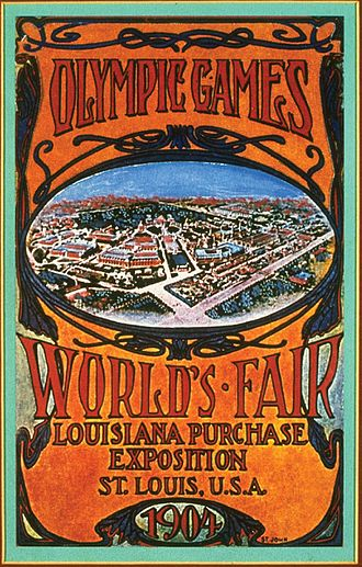 1904 Summer Olympics - Advertisement for the 1904 Summer Olympics and the Louisiana Purchase Exposition
