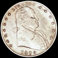 "1909 obverse, large date with Washington facing right and ""Liberty"" surrounded by 7 stars to the left and 6 stars to the right"