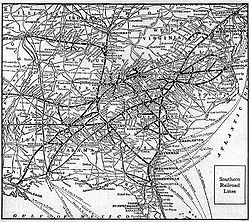 Southern Railway US Wikipedia - Map of us rail network