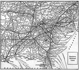 Southern Railway (U.S.) - A 1921 system map.