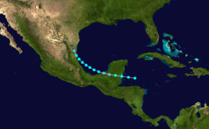 1924 Atlantic hurricane season - Image: 1924 Atlantic tropical storm 1 track