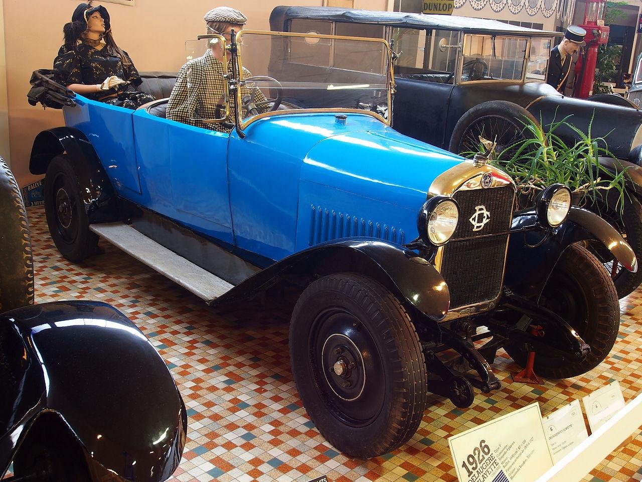 file 1926 delaugere et clayette v 4 cyl 10cv at the mus e automobile de vend e pic 1 jpg. Black Bedroom Furniture Sets. Home Design Ideas