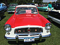 1957 Metropolitan by American Motors in red and white at 2015 Macungie show 1of3.jpg