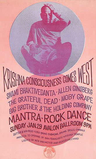 Moby Grape - The Mantra-Rock Dance promotional poster featuring Moby Grape.