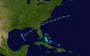 Track of Subtropical Storm 1