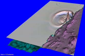 1998 Papua New Guinea earthquake - Computer modelling of the earthquake and resulting landslide