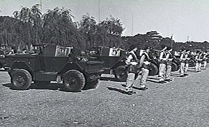 1st Armoured Car Squadron (Australia) - Members of the 1st Armoured Car Squadron in Tokyo in late 1947