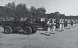1st Armoured Car Squadron (Australia) - Members of the 1st Armoured Car Squadron in Tokyo in late 1947