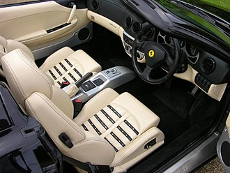 Ferrari 360 - Interior with F1 paddleshift gearbox
