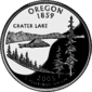 Oregon kwart dollar munt
