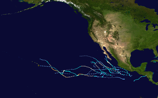 2005 Pacific hurricane season Period of formation of tropical cyclones in the Eastern Pacific Ocean in 2005