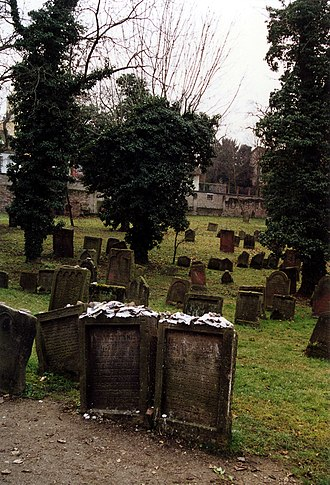 Meir of Rothenburg - Tombs of Meir of Rothenburg (left) and Alexander ben Salomon Wimpfen (right) in the Jewish cemetery of Worms