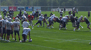 2006 New England Patriots season - The Patriots during the first practice of training camp