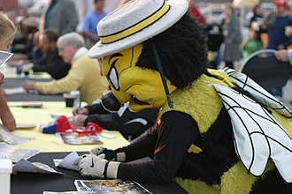 Chicago Sting - Chicago Sting Mascot 'Stanley Sting' pictured in 2009.