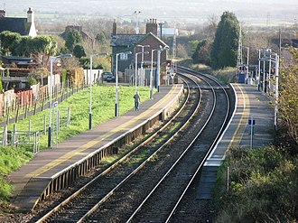 Pinhoe railway station - Image: 2009 at Pinhoe station overview