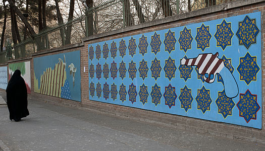 USA embassy graffiti Tehran Iran