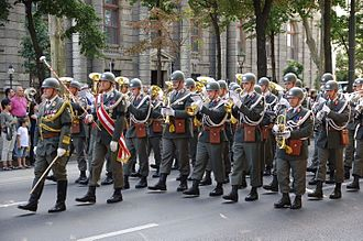 Military march (Bruckner) - Military band in Austria