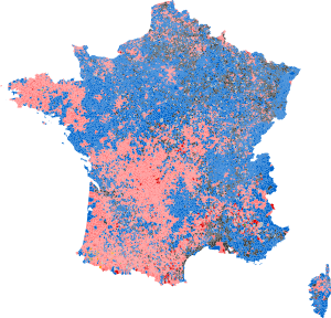 2012 French presidential election - First round - Majority vote (Metropolitan France, communes).svg