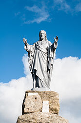 A statue of Christ, in La Verrie