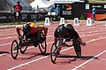 2013 IPC Athletics World Championships - 26072013 - Kenny van Weeghel of Netherlands and Marc Schuh of Germany during the Men's 100m - T54 final.jpg
