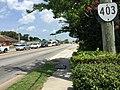 2017-07-12 12 07 22 View north along Virginia State Route 403 (Newtown Road) at U.S. Route 58 (Virginia Beach Boulevard) along the border of Norfolk, Virginia and Virginia Beach, Virginia.jpg