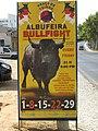 2017-09-23 Bullfight poster, Albufeira.JPG