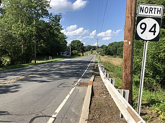 Fredon Township, New Jersey - Route 94 northbound in Fredon Township