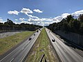 2018-10-29 14 44 33 View south along Virginia State Route 286 (Fairfax County Parkway) from the overpass for Virginia State Route 667 (Pinecrest Road) in Floris, Fairfax County, Virginia.jpg