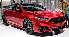 2019 Acura TLX A-Spec SH-AWD in red front NYIAS 2019.jpg