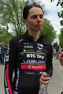 Urša Pintar Slovenian cyclist