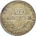 20 Kreuzer 1808, Tirol, Rückseite.JPG
