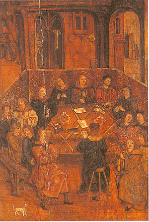 Siege of Wiener Neustadt - contemporary picture of the town council of Wiener Neustadt