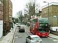 341 bus at northbound Balls Pond Road stop - geograph.org.uk - 3174885.jpg
