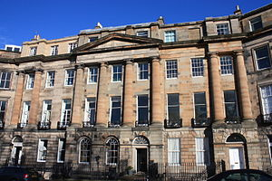Robert William Thomson - Thomson's house (right) at 3 Moray Place, Edinburgh