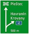 433-52 Smerová predzvesť diaľničná (prípojka – smerovo orientovaná značka, nasleduje uzol).jpg