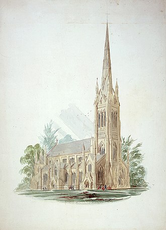 Cathedral Church of St. James (Toronto) - Illustration, c. 1858